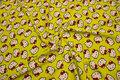 Gulgrøn strækjersey med Hello Kitty hoveder