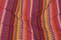 Tværmønstret viscosejersey i smukke rust toner