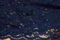 Marineblå kjoleblonde med 2 tunger