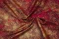 Rød bomuld med guldmønster
