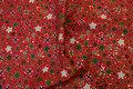 Rød julebomuld med stjernemix