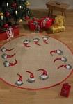 Juletræstæppe med stilfulde nissemænd