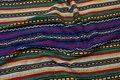 Inka-striber i flotte lilla-rød-grønne farver