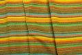Kraftig bomuld med flotte gule og grønne striber