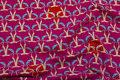 Pink bomuldsjersey med rævehoveder