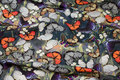 Grågrøn bomuldsjersey med sommerfugle