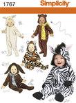 Baby udklædning, bjørn, zebra, hund, kat