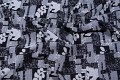 Sort-grå jacquardvævet heavy-jersey med blomster mønster
