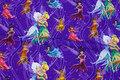 Klar lilla bomuldsjersey med Disney-alferne