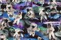 Bomuldsjersey med astronauter på moonwalk