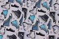 Lysgrå bomuldsjersey med sneakers