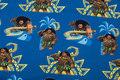 Blå bomuldsjersey med motiver fra Vaiana