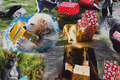 Bomuldsjersey med vilde dyr med julegaver