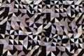 Viscosejersey med grafisk mønster i sort, sand og gråblå