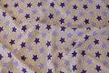 Lysegrå strækvelour med lilla 2½ cm stjerner