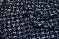Koksgrå-sandfarvet modestrik med hanefjed, tern 25 mm