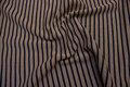Camel-marine, kraftig, fast tværstribet jersey