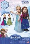 Frozen udklædning til 45 cm dukke