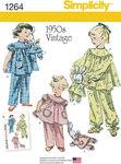 Vintage pajamas og tøjkanin med pajamas