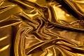 Guldfarvet polyesterjersey med folietryk