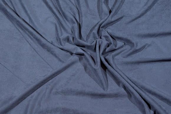 stålgrå strækbar ruskindslignende polyestervare