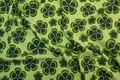 Lime og grøn bomulds-jersey med kløvere