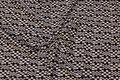 Dobbelt jersey med lille tern i sort og off white