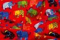 Rød strækjersey med søde elefanter