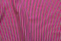Pink-lime rib-stof, tværstribet