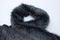 20 cm x 150 cm imitieret pelsstykke, koksgrå