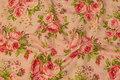 Rosa bomuld med rosenbuketter