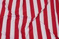 Rød-hvid, let bomuldsjersey med 3 cm brede tværstriber