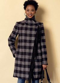 Butterick mønster: Sjalskrave frakke og vest med bælte