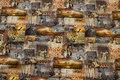 Grå og gul bomuldsjersey med Afrika-motiver
