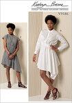 Kjole med stå-krave, talje-detaljer - Kathryn Brenne