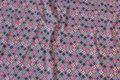 Lys grå bomuldsjersey med pink og petrol blomster