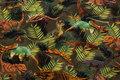 Bomuldsjersey med øgler i junglen