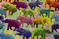 Bomuldsjersey med elefanter i flotte farver