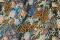 Mode-quilt i leopard og mint farver med sort foer