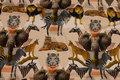 Sandfarvet bomuldsjersey med vilde dyr