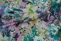 Let polyestersatin i grønne nuancer