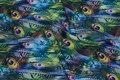 Let bluse-polyester med påfugle mønster