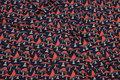 Økologisk bomuld-jersey i marine med coral paddehatte