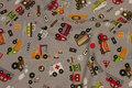 Sandfarvet bomuld med biler