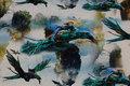 Bomuldsjersey med flyvende øgler