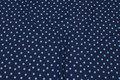 Marine bomuldsjersey med 1 cm lyseblå stjerner