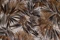 Let kjolestof i hør og silke med brun og gråt bladmønster