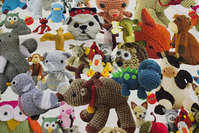 Sjovt trykt med strikkede dyr