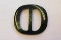 Grønt benlook bæltespænde bæltebredde 4cm