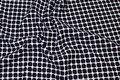 Jersey-quilt i sort og hvid med 15 mm felter